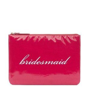 kate spade bridesmaid pink gia pouch bag nwt